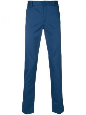 Классические брюки-чинос Givenchy. Цвет: синий