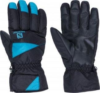 Перчатки мужские Force, размер 9,5 Salomon. Цвет: черный