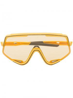 Солнцезащитные очки Glendale с затемненными линзами 100% Eyewear. Цвет: желтый