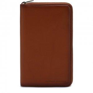 Кожаное портмоне с отделениями для кредитных карт и монет Brunello Cucinelli. Цвет: коричневый