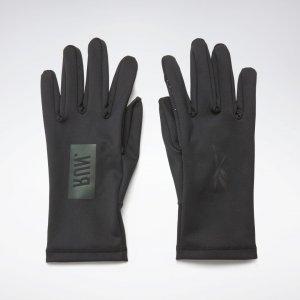 Перчатки для бега OS Reebok. Цвет: black