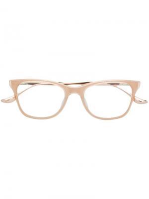 Очки в квадратной оправе Dita Eyewear. Цвет: нейтральные цвета