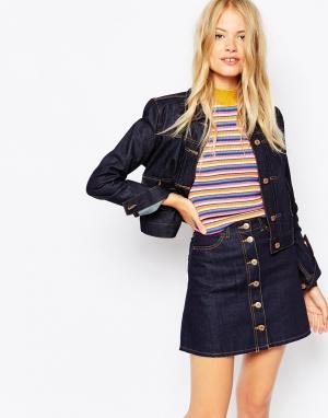 Джинсовая куртка Monki. Цвет: темный синий