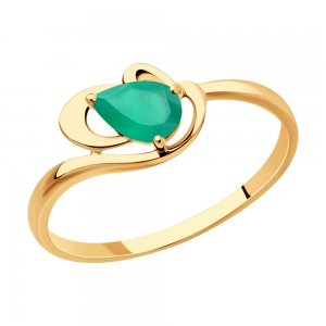 Кольцо из золота с агатом SOKOLOV