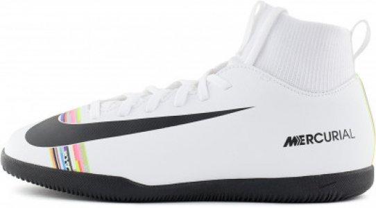 Бутсы для мальчиков JR Superfly 6, размер 34 Nike. Цвет: белый