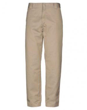 Повседневные брюки CARHARTT. Цвет: песочный