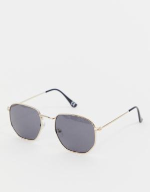 Золотистые круглые солнцезащитные очки Inspired эксклюзивно для ASOS-Золотой Reclaimed Vintage