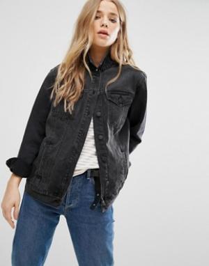 Джинсовая куртка New Look. Цвет: черный