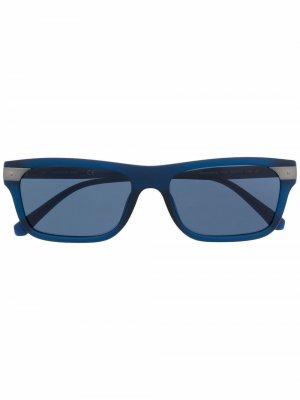 Солнцезащитные очки в квадратной оправе Calvin Klein Jeans. Цвет: синий