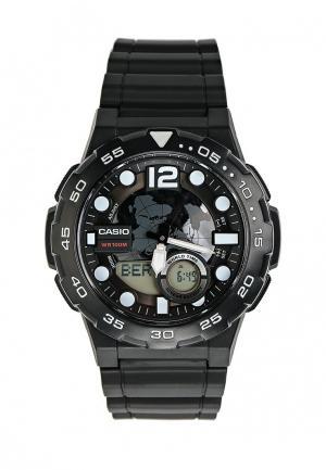 Часы Casio Collection AEQ-100W-1A. Цвет: черный