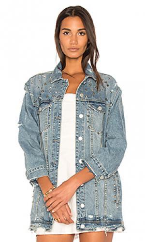 Состаренная джинсовая куртка BLANKNYC. Цвет: none