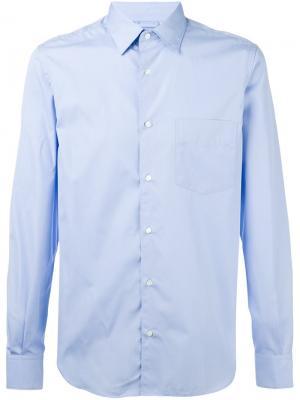 Рубашка с нагрудным карманом Aspesi. Цвет: синий