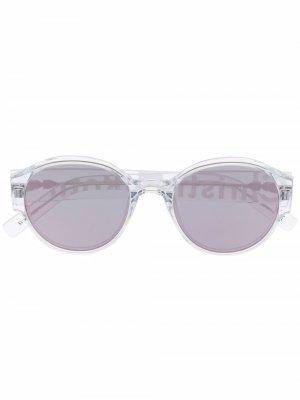 Солнцезащитные очки в круглой оправе с логотипом Christian Roth. Цвет: нейтральные цвета