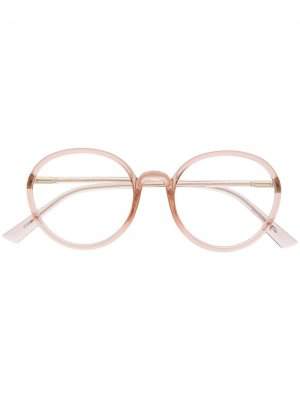 Очки SoStellaire2 в круглой оправе Dior Eyewear. Цвет: нейтральные цвета