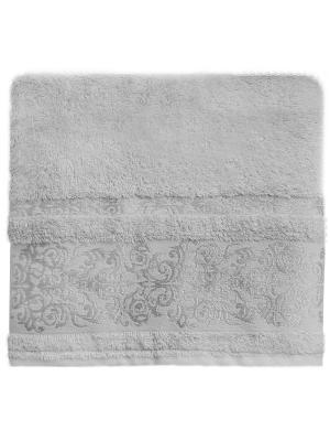 Полотенце банное 70*140 Bonita Дамаск, махровое, Серый. Цвет: серый