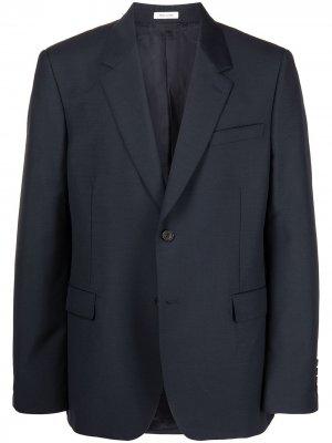 Однобортный пиджак Alexander McQueen. Цвет: синий