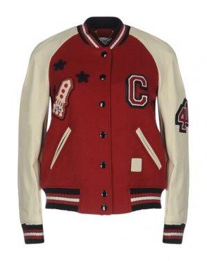 Куртка COACH. Цвет: красный