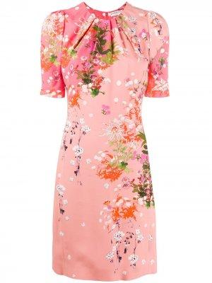 Короткое платье с цветочным принтом Givenchy. Цвет: розовый
