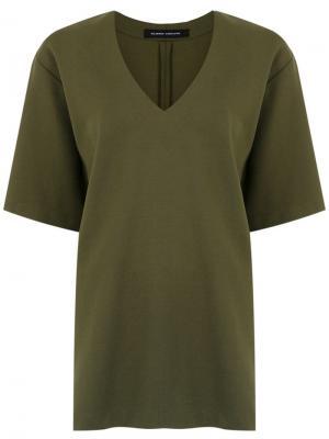 Shortsleeved blouse Gloria Coelho. Цвет: зеленый