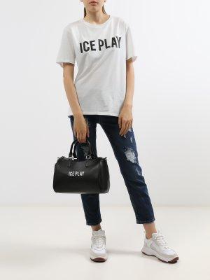Сумка с ручками Ice Play. Цвет: chernyy