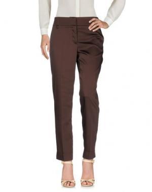 Повседневные брюки ANGELO MARANI. Цвет: какао