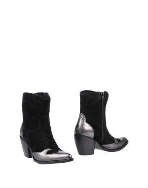 Полусапоги и высокие ботинки ALEXANDER HOTTO. Цвет: черный
