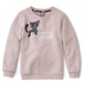 Детская толстовка Animals Crew PUMA. Цвет: розовый