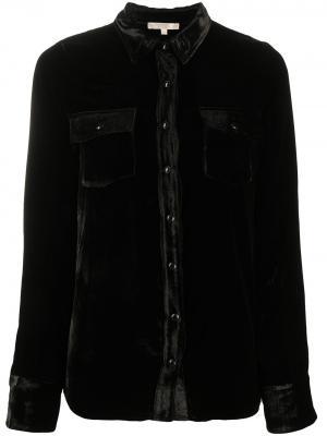 Рубашка с нагрудным карманом и длинными рукавами Gold Hawk. Цвет: черный