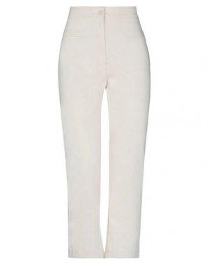 Повседневные брюки DENNY ROSE. Цвет: слоновая кость