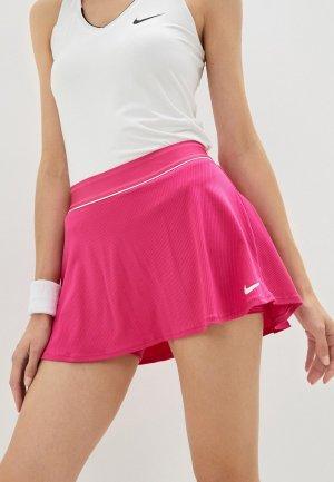 Юбка-шорты Nike W NKCT FLOUNCY SKIRT. Цвет: розовый