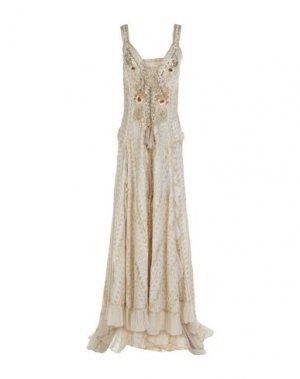 Длинное платье GADO by MARGRIET WAGERAAR. Цвет: слоновая кость