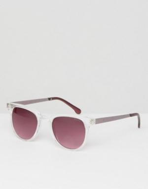 Квадратные солнцезащитные очки в прозрачной оправе Komono. Цвет: прозрачный