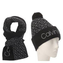 Шарф и шапка K60K605992 черный CALVIN KLEIN