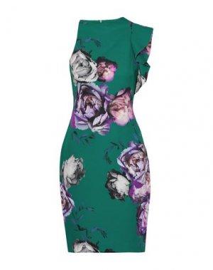 Платье до колена BLACK HALO. Цвет: зеленый