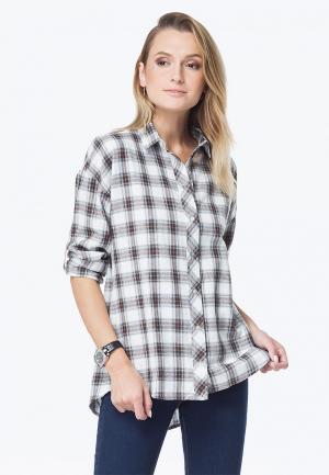 Рубашка Vilatte. Цвет: серый