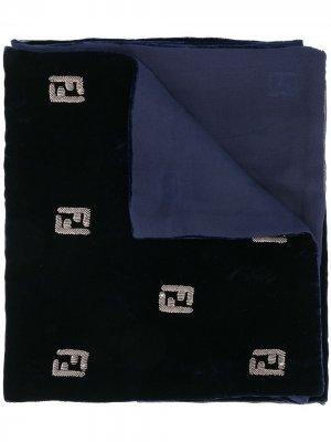 Воротник с логотипом Fendi Pre-Owned. Цвет: синий