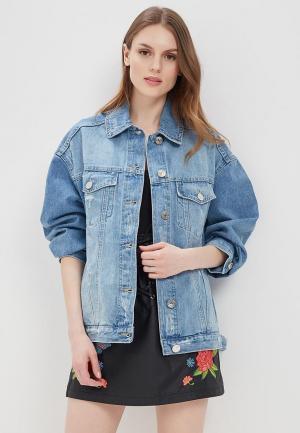 Куртка джинсовая River Island. Цвет: синий