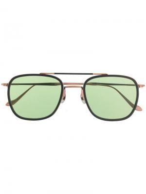 Солнцезащитные очки в массивной оправе Matsuda. Цвет: коричневый