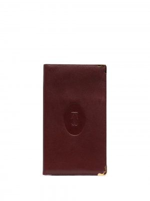 Бумажник pre-owned с тисненым логотипом Cartier. Цвет: красный