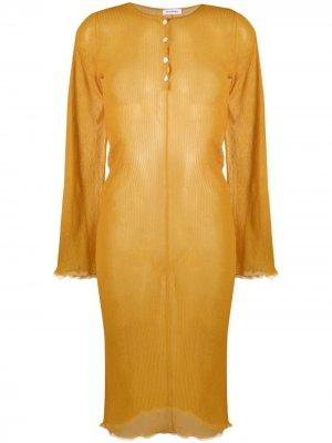 Полупрозрачное платье Acne Studios. Цвет: оранжевый
