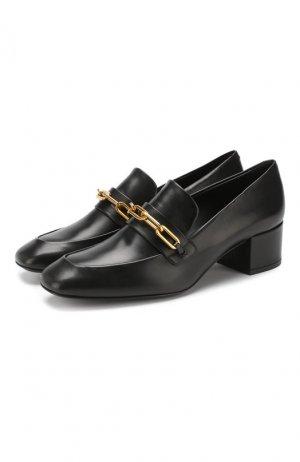 Кожаные туфли Burberry. Цвет: черный