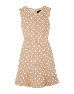 Короткое платье J.CREW. Цвет: бежевый