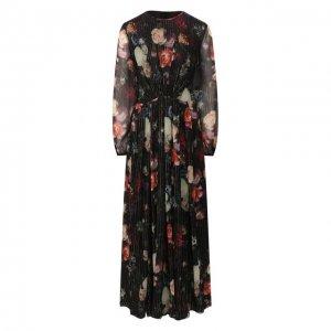 Шелковое платье Adam Lippes. Цвет: разноцветный