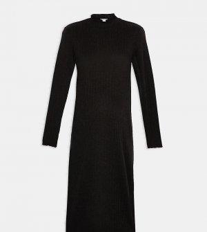 Черное платье миди с волнистыми краями Maternity-Серый Topshop