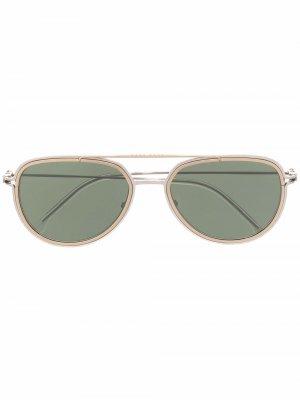Солнцезащитные очки-авиаторы Boss Hugo. Цвет: золотистый