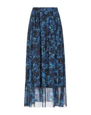 Длинная юбка FUZZI. Цвет: синий