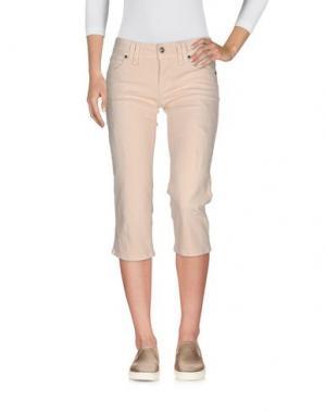 Джинсовые брюки-капри GALLIANO. Цвет: бежевый