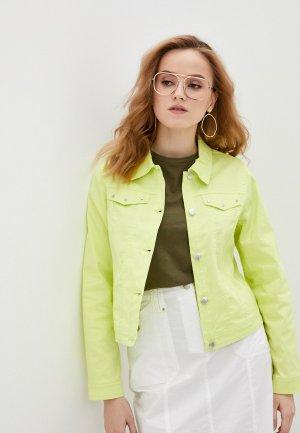 Куртка джинсовая Micha. Цвет: зеленый