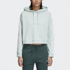 Худи Cropped Originals adidas. Цвет: зеленый