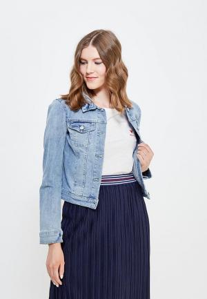 Куртка джинсовая Tom Tailor Denim. Цвет: голубой